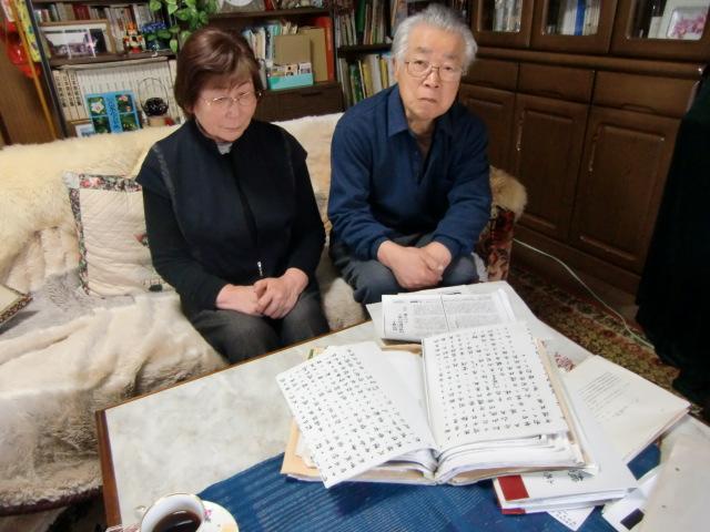 秀信公の末裔・織田宗司さんと妻・富美子さん