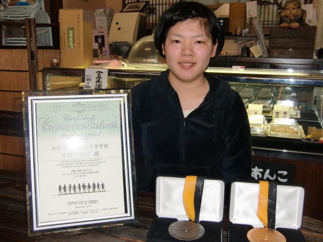ボランティア・スピリット賞を受賞した中村ゆうさん