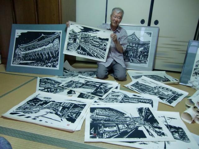 木版画は出会いの結晶~日本板画院同人・巽さん