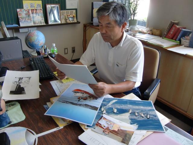 中藤艦長からの手紙・写真を見る宮井校長