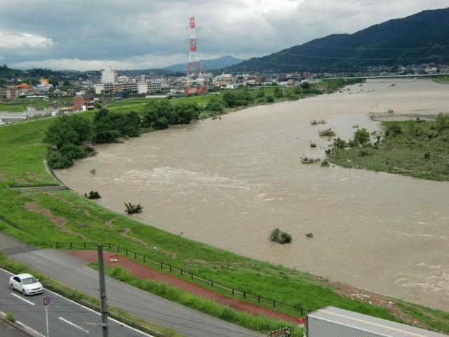 紀ノ川の水位が低下~橋本、人命財産被害なし