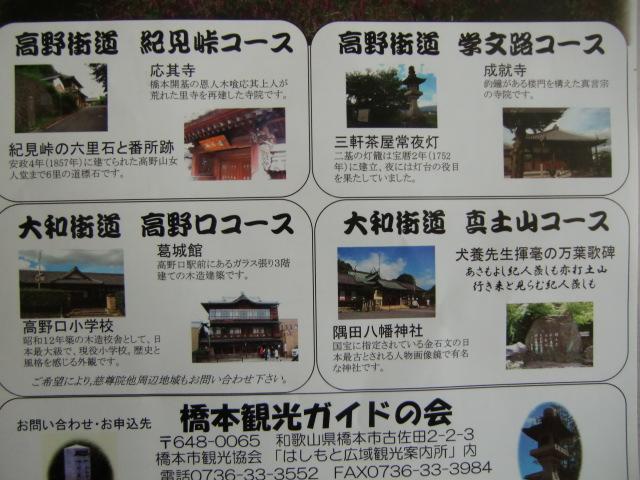 橋本観光ガイドの会が設定した橋本の観光コース