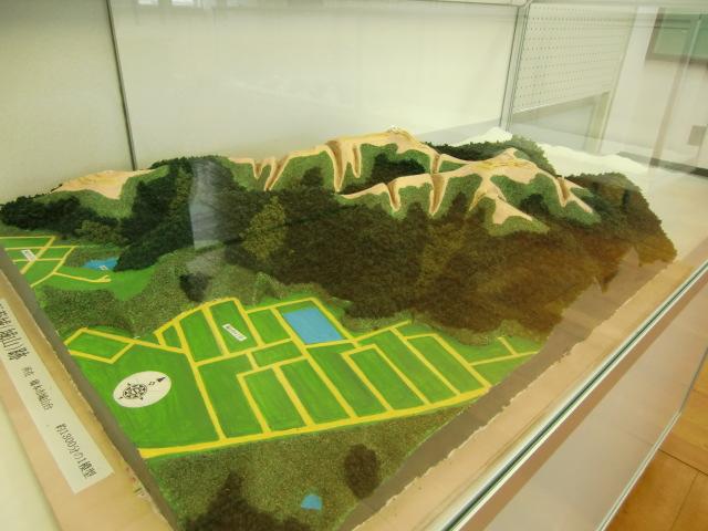 城山にあった長藪城の模型(吉田亘さん作)