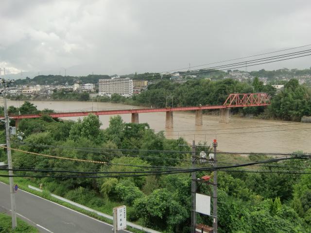 橋本市の南海高野線・紀ノ川鉄橋