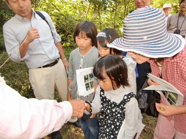 大勢の見学者が詰めかけた「ふるさとの学びの森」