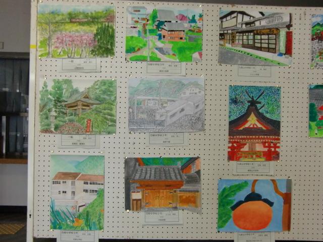 見事に写生された九度山100景絵画展の入賞作品