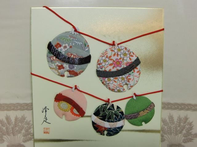 稲葉さんが寄贈した「紀州手鞠」の押絵