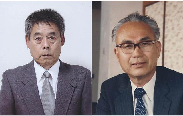 橋本市文化賞の大谷さん(左)と橋本市功労賞の前田さん(右)