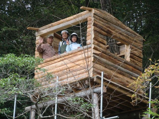 棟上げをすませた〝ツリーハウス〟