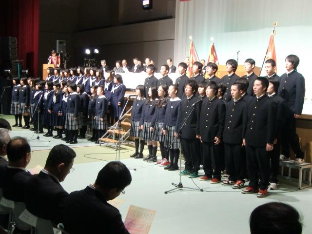橋本体育館で開かれた橋本高校創立100周年記念式