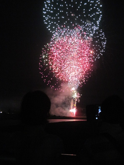 花火、山河に映える♪4日・紀の川橋本サマーボール