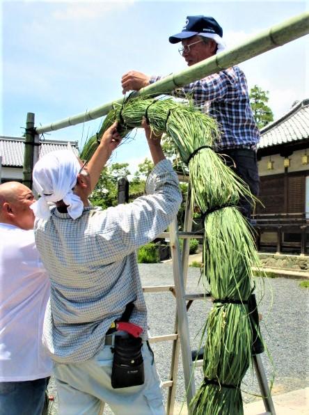 爽やかな「茅の輪」できた♪隅田八幡神社30日神事
