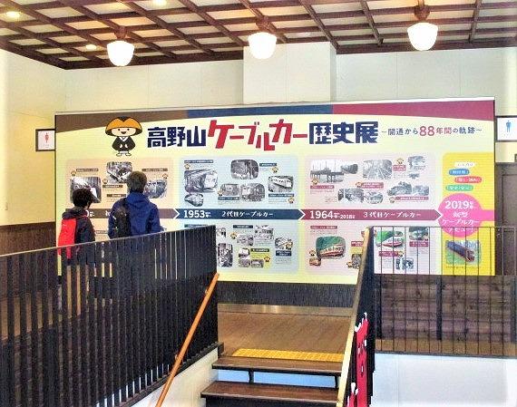 高野山ケーブル歴史展♪高野山駅に写真・説明文飾る