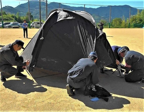 災害!緊急物資の搬送訓練~かつらぎ署と協定企業