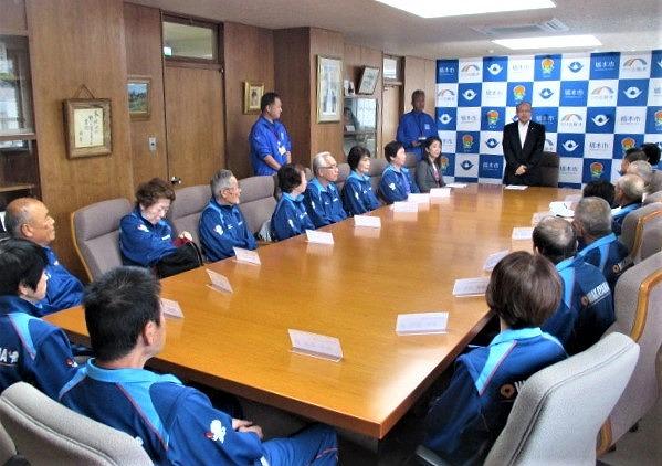 ねんりんピック健闘誓う!壮行会で橋本の県代表選手