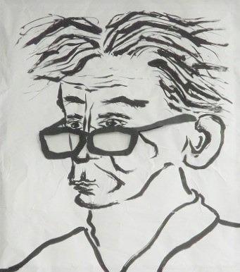 おおっ!書画「わたしが岡潔です」紀見北地区公民館