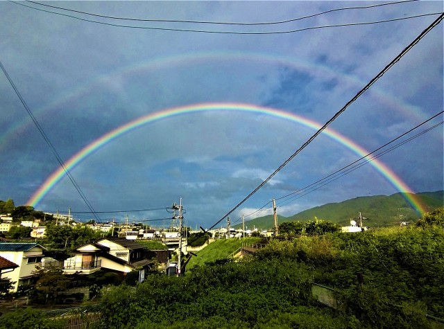 二重の虹の橋、橋本駅ひとまたぎ~台風の置き土産?!