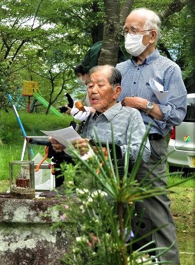 阪口繁昭氏92歳逝去〜橋本・戦友偲び反戦平和訴え